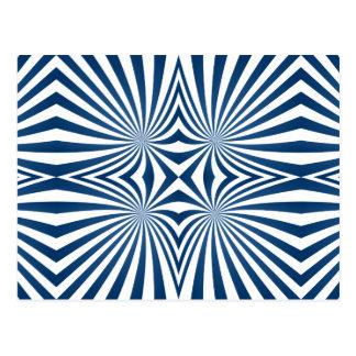 bBlue repeating hypnotic pattern Postcard