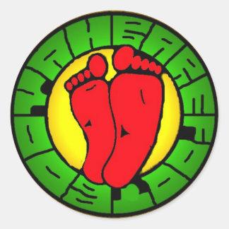 BBooyah_logo_rasta Round Sticker