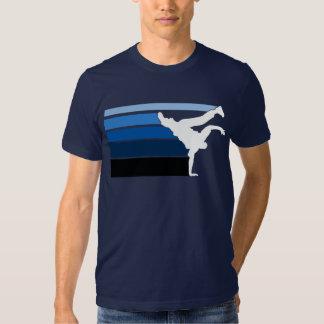 BBOY gradient blu wht T Shirt