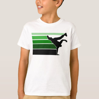 BBOY gradient grn blk kids T-Shirt