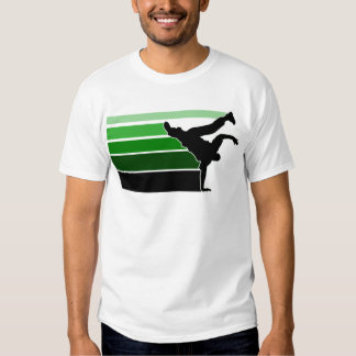 BBOY gradient grn blk Tshirt