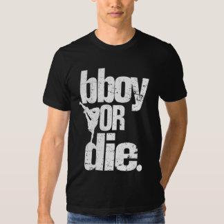 bboy or die white distressed tshirt