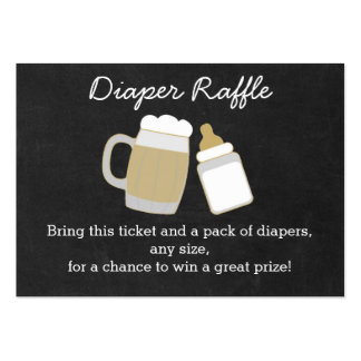 BBQ Baby Shower Diaper Raffle Tickets Pack Of Chubby Business Cards