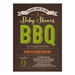 BBQ Baby Shower Invitation - Lime Custom Invite