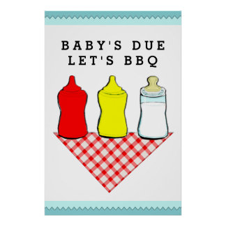 BBQ Baby Shower Poster