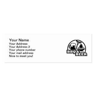 BBQ barbecue beer Business Cards