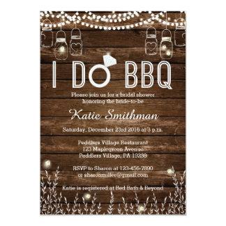 BBQ Bridal Shower Invitation - Rustic BBQ