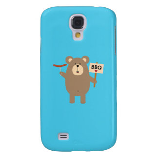BBQ Brown Bear with Sausage Q1Q Samsung Galaxy S4 Covers
