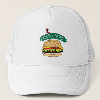 BBQ Burger Master of the Grill Trucker Hat