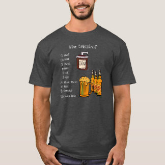 BBQ Checklist (Front) TShirt