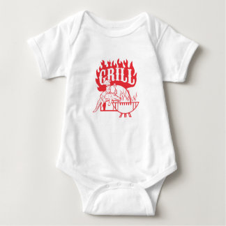 BBQ Chef Carry Gator Grill Retro Baby Bodysuit