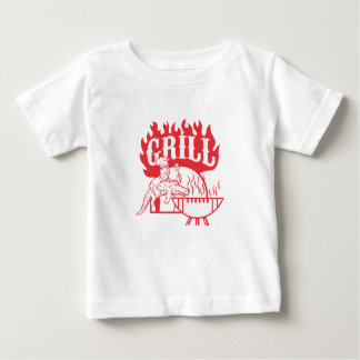 BBQ Chef Carry Gator Grill Retro Baby T-Shirt