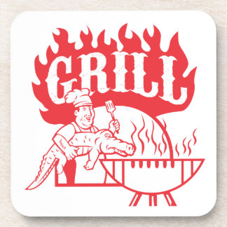 BBQ Chef Carry Gator Grill Retro Coaster