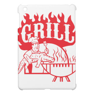 BBQ Chef Carry Gator Grill Retro iPad Mini Cover