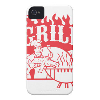 BBQ Chef Carry Gator Grill Retro iPhone 4 Case-Mate Case