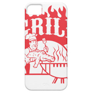 BBQ Chef Carry Gator Grill Retro iPhone 5 Cases