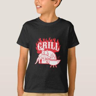 BBQ Chef Carry Gator Grill Retro T-Shirt