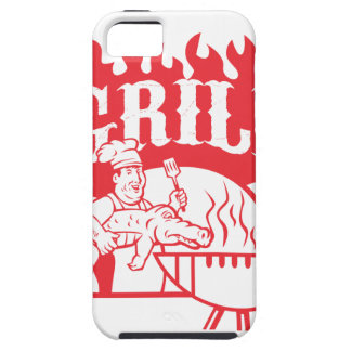 BBQ Chef Carry Gator Grill Retro Tough iPhone 5 Case
