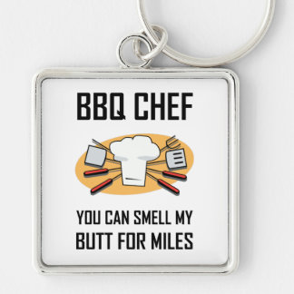 BBQ Chef Smell Butts Key Ring