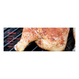 BBQ Chicken Pack Of Skinny Business Cards