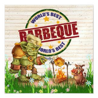 BBQ, Cookout, Pig Pickin' - SRF 13 Cm X 13 Cm Square Invitation Card