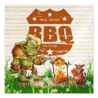BBQ Cookout Pig Pickin - SRF Custom Announcements