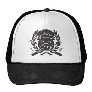 BBQ Crest - black print Cap