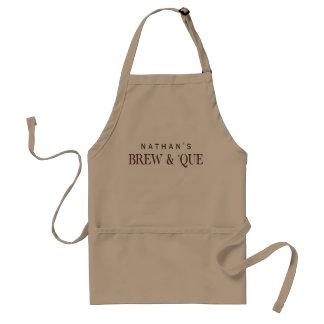 BBQ Custom Brew & 'Que Personalized Standard Apron