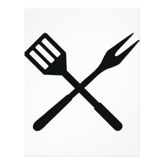 BBQ cutlery icon 21.5 Cm X 28 Cm Flyer