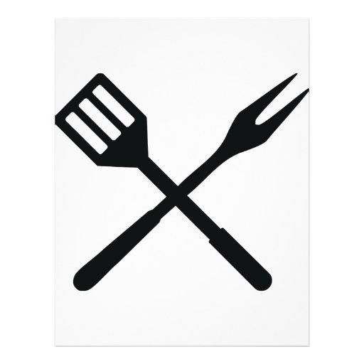 BBQ cutlery icon Full Color Flyer