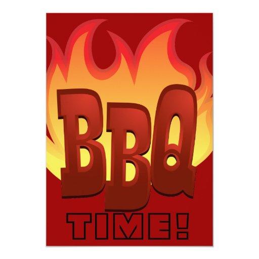 bbq flame text design invite 13 cm x 18 cm invitation card