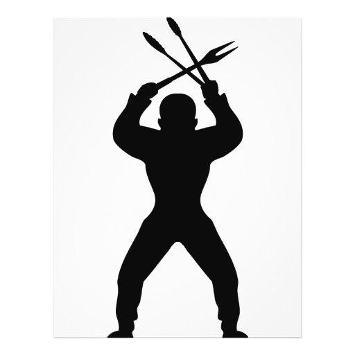 BBQ freak icon black Flyer Design