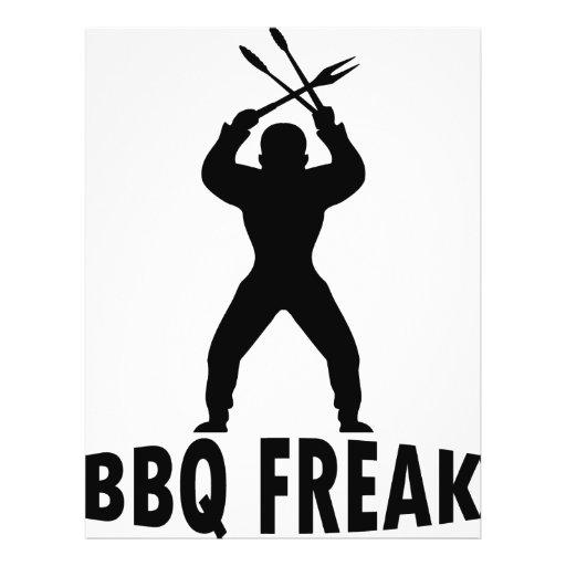 BBQ-freak with cutlery Flyer Design