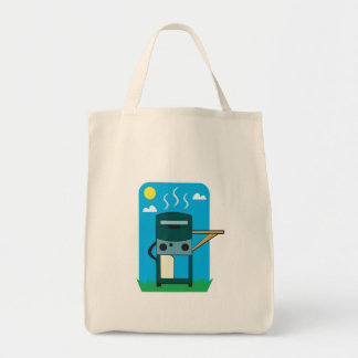 bbq gas grill grocery tote bag