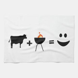 BBQ = Happiness Tea Towel