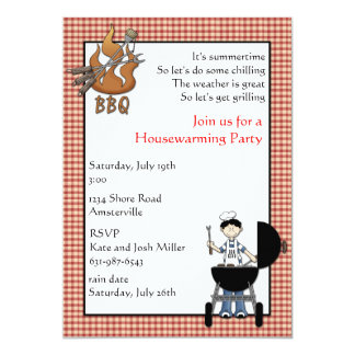 BBQ Housewarming Party Invitation