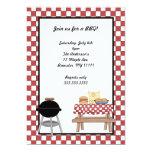 BBQ Invitation with grill and picnic table 13 Cm X 18 Cm Invitation Card
