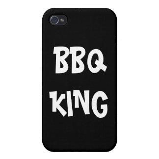BBQ King Funny  Cover For iPhone 4