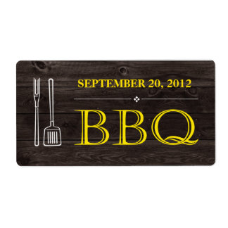 BBQ Label Shipping Label
