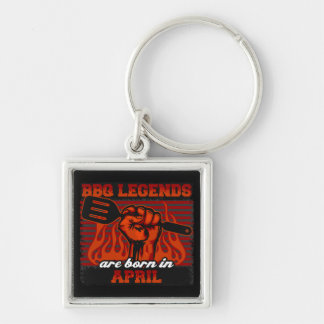 BBQ Legends are Born in April Key Ring