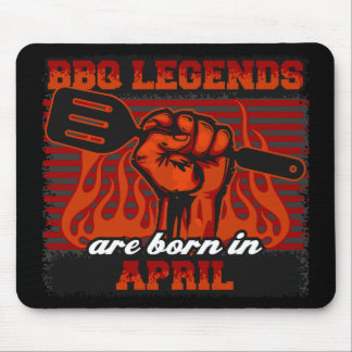 BBQ Legends are Born in April Mouse Pad