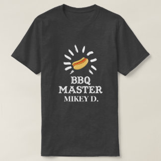 BBQ Master Personalized Grilling T-Shirt