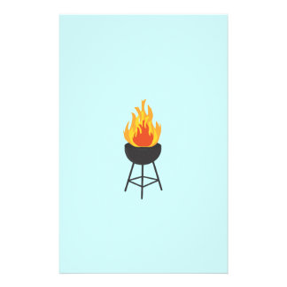 BBQ on Fire 14 Cm X 21.5 Cm Flyer