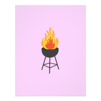 BBQ on Fire 21.5 Cm X 28 Cm Flyer