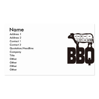 BBQ PACK OF STANDARD BUSINESS CARDS