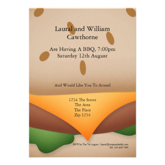 BBQ Party Personalized Invitations