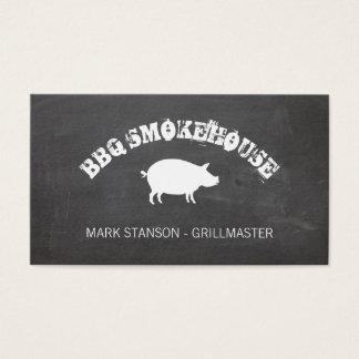 BBQ / Pig / Chalk Background Business Card