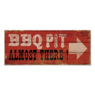 BBQ Pit - 20x8 Poster