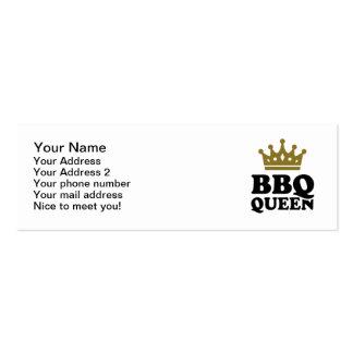BBQ Queen Business Card Templates