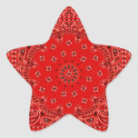 BBQ Red Paisley Western Bandanna Scarf Print